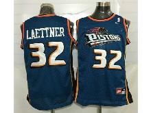 Mens Nba Detroit Pistons #32 Christian Laettner Blue Mesh Jersey