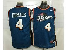 Mens Nba Detroit Pistons #4 Joe Dumars Blue Mesh Jersey