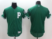 mens majestic pittsburgh pirates blank green Flex Base jersey