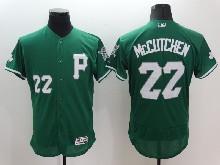 mens majestic pittsburgh pirates #22 andrew mccutchen green Flex Base jersey
