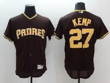 mens majestic san diego padres #27 matt kemp brown Flex Base jersey