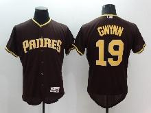 mens majestic san diego padres #19 tony gwynn brown Flex Base jersey