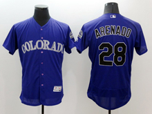 mens majestic colorado rockies #28 nolan arenado purple Flex Base jersey