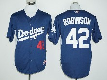 mens majestic los angeles dodgers #42 ackie robinson blue Flex Base jersey