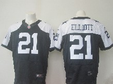 Mens Nfl Dallas Cowboys #21 Ezekiel Elliott Blue Thanksgiving Elite Jersey