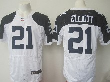 Mens Nfl Dallas Cowboys #21 Ezekiel Elliott White Thanksgiving Elite Jersey