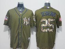 Mens Majestic New York Yankees #25 Mark Teixeira Green Fashion 2016 Memorial Day Jersey
