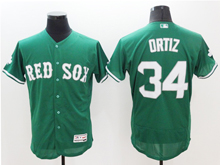 mens majestic boston red sox #34 david ortiz green Flex Base jersey