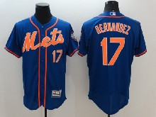 mens majestic new york mets #17 keith hernandez blue Flex Base jersey