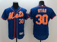 mens majestic new york mets #30 nolan ryan blue Flex Base jersey