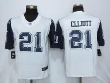 Mens Nfl New   Dallas Cowboys #21 Ezekiel Elliott White (2015 New) Thanksgiving Limited Jersey