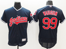 mens majestic cleveland indians #99 ricky vaughn navy blue Flex Base jersey