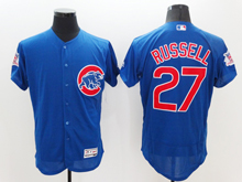 mens majestic chicago cubs #27 addison russell biue Flex Base jersey