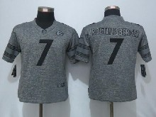 Women  Nfl Pittsburgh Steelers #7 Ben Roethlisberger Gray Limited Jersey