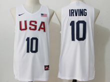 Mens Nba 12 Dream Team #10 Kyrie Irving White Jersey