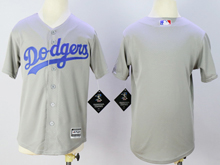 Youth Mlb Los Angeles Dodgers Blank Gray Jersey