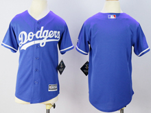 Youth Majestic Los Angeles Dodgers Blank Blue Jersey