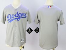 Youth Majestic Los Angeles Dodgers Blank New Gray Jersey