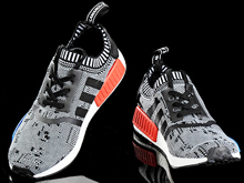 Men Adidas Nmd Runner Pk Sport Running Shoes Gray And Red Colour