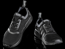 Men Adidas Nmd Runner Pk Sport Running Shoes Black Colour