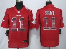 Mens Nfl Kansas City Chiefs #11 Alex Smith Red Strobe Limited Jersey