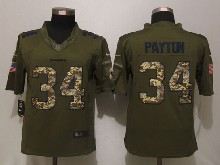Mens Nfl Chicago Bears #34 Walter Payton Green Salute To Service Limited Jersey