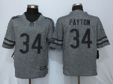 Mens Nfl Chicago Bears #34 Walter Payton Gray Stitched Gridiron Limited Jersey