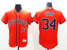 Mens Mlb Houston Astros #34 Nolan Ryan Orange Flex Base Jersey