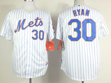 Mens mlb new york mets #30 ryan white (blue strip) Jersey
