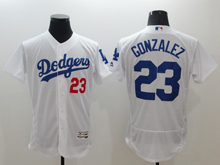 mens majestic los angeles dodgers #23 adrian gonzalez white Flex Base (majestic) jersey