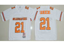 Mens Ncaa Nfl Oklahoma State Cowboys #21 Barry Sanders White Jersesy