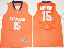 Mens Ncaa Nba Syracuse Orange #15 Camerlo Anthony Orange Jersey