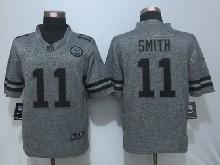 Mens Nfl Kansas City Chiefs #11 Alex Smith Gray Stitched Gridiron Limited Jersey