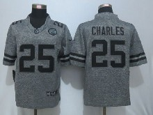 Mens Nfl Kansas City Chiefs #25 Jamaal Charles Gray Stitched Gridiron Limited Jersey