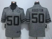 Mens Nfl Kansas City Chiefs #50 Justin Houston Gray Stitched Gridiron Limited Jersey