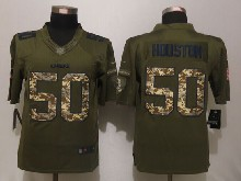 Mens Nfl Kansas City Chiefs #50 Justin Houston Green Salute To Service Limited Jersey
