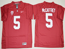 Mens Ncaa Nfl Stanford Cardinal #5 Christian Mccaffrey Red Jersey