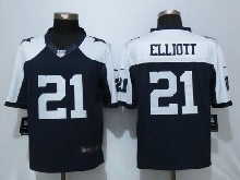 Mens Nfl Dallas Cowboys #21 Ezekiel Elliott Blue Thanksgiving Limited Jersey