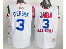 Mens Nba All Satr Philadelphia 76ers #3 Allen Iverson White Hardwood Classics Jersey
