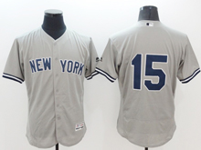 mens majestic new york yankees #15 thurman munson gray Flex Base jersey