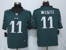 Mens Nfl Philadelphia Eagles #11 Carson Wentz Green Limited Jerseys