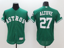 mens majestic houston astros #27 jose altuve green Flex Base jersey