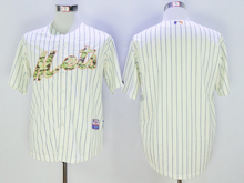 Mens Mlb New York Mets Blank Rice White Stripe Camo Usmc