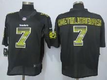 Mens Nfl Pittsburgh Steelers #7 Ben Roethlisberger Black Strobe Limited Jersey