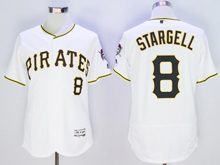 mens majestic pittsburgh pirates #8 willie stargell white Flex Base jersey