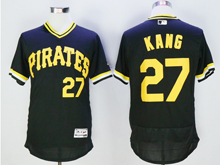 mens majestic pittsburgh pirates #27 jung ho kang black pullover Flex Base jersey