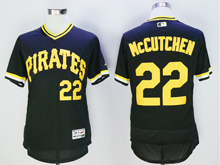 mens majestic pittsburgh pirates #22 andrew mccutchen black pullover Flex Base jersey
