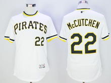 mens majestic pittsburgh pirates #22 andrew mccutchen white pullover Flex Base jersey