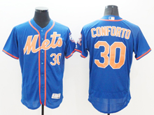 mens majestic new york mets #30 michael conforto blue Flex Base jersey