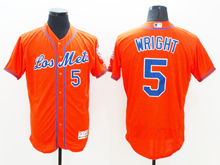 mens majestic new york mets #5 david wright red Flex Base jersey
